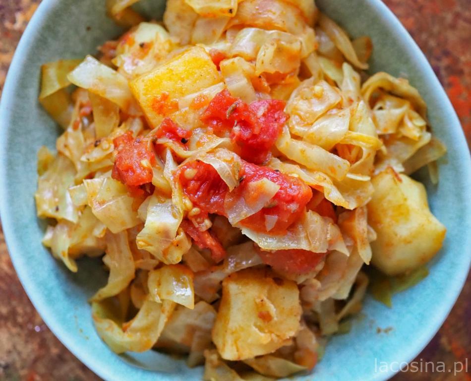 Smażona kapusta z ziemniakami – Bandgobhi alu sabdżi